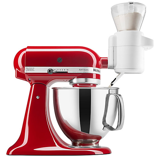 Alternate image 1 for KitchenAid®  Flour Sifter & Scale Attachment in White