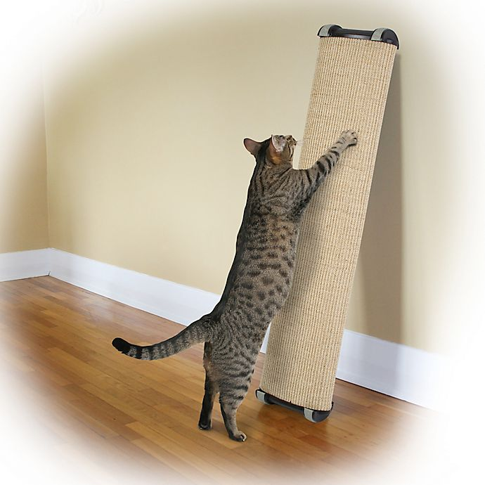 Alternate image 1 for Omega Paw Lean-It Anywhere™ 38-Inch Large Scratching Post in Natural