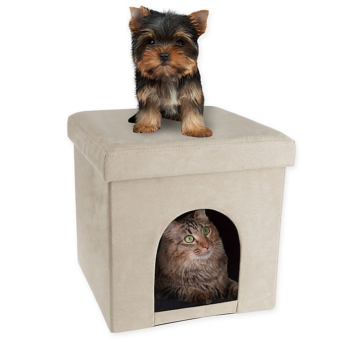 Alternate image 1 for PETMAKER House Ottoman Pet Cube in Tan