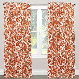Skyline Furniture Canary 84-Inch Rod Pocket/Back Tab Window Curtain Panel in Orange