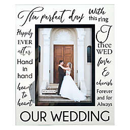 Malden® 5-Inch x 7-Inch Glass with Silver Foil Wedding Frame