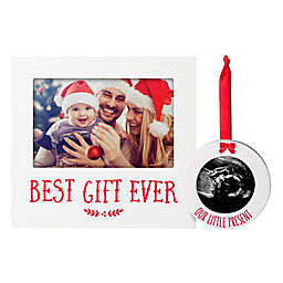 Pearhead First Christmas 2-Piece Frame and Ornament Set