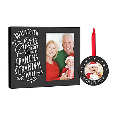 Pearhead 2-Piece Grandparents Frame and Ornament Set