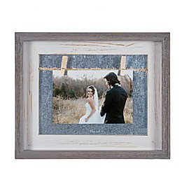 Danya B.™ 4-Inch x 6-Inch Horizontal Wood Picture Frame in Grey/White