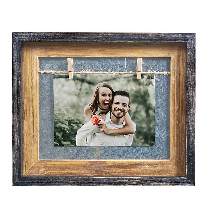 Alternate image 1 for Danya B.™ 5-Inch x 7-Inch Horizontal Wood Picture Frame in Grey/Brown