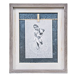 Danya B.™ 5-Inch x 7-Inch Vertical Wood Picture Frame in Grey/White