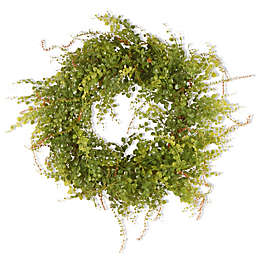 National Tree Company® 22-Inch Garden Accents Boxwood Berry Artificial Wreath