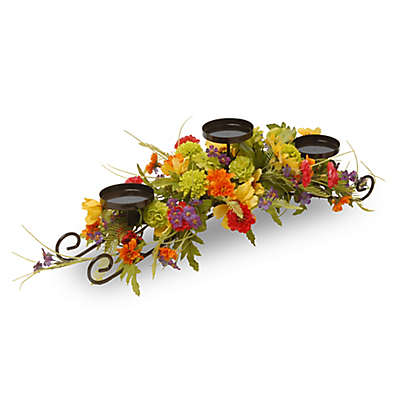 National Tree Company® 30-Inch Cosmos Mixed Floral Candleholder