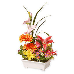 National Tree Company 15-Inch Artificial Floral Arrangement in Ceramic Pot
