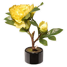 National Tree Company® 9.5-Inch Peony Artificial Flower with Ceramic Pot in Yellow
