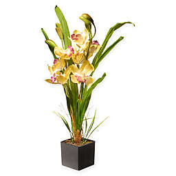 National Tree Company® 17-Inch Orchid Artificial Flower with Ceramic Pot