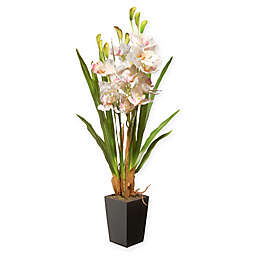 National Tree Company® 33-Inch Orchid Artificial Flowers with Ceramic Pot