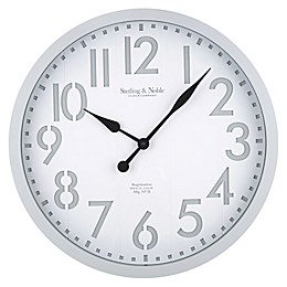 Sterling & Noble 28-Inch Modern Farmhouse Wall Clock