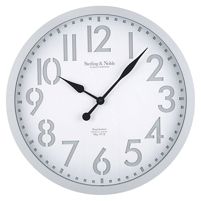 Alternate image 1 for Sterling & Noble 28-Inch Modern Farmhouse Wall Clock