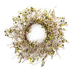 Melrose International 20-Inch Artificial Birch Branch Wreath in Ivory/Olive