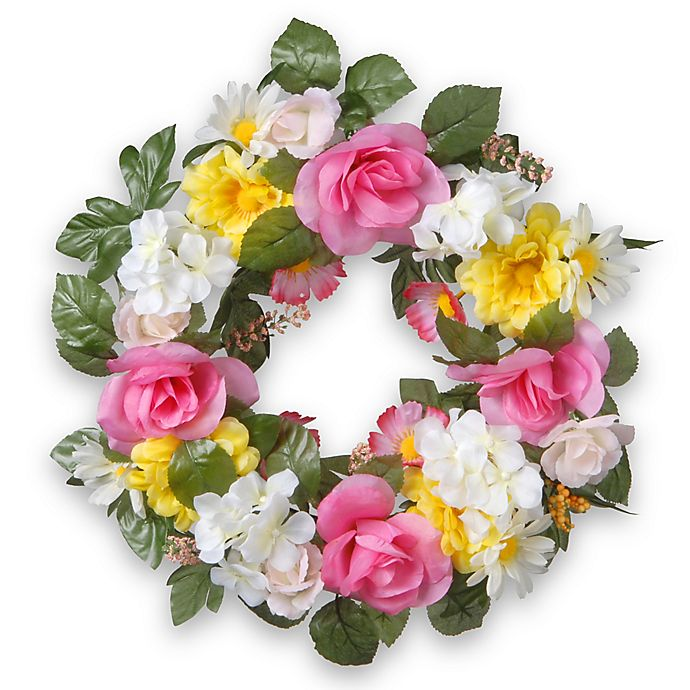 National Tree Company 174 18 Inch Artificial Daisy And Rose