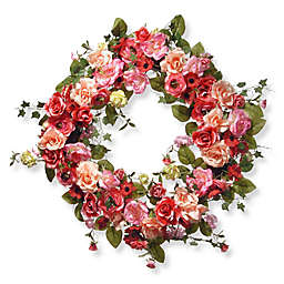 National Tree Company® 32-Inch Spring Artifical Wreath in Pink