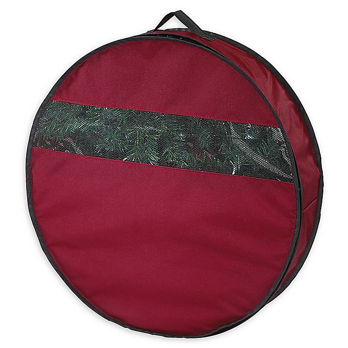 Neu Home 24 Inch Holiday Wreath Storage Bag In Red Bed Bath Beyond