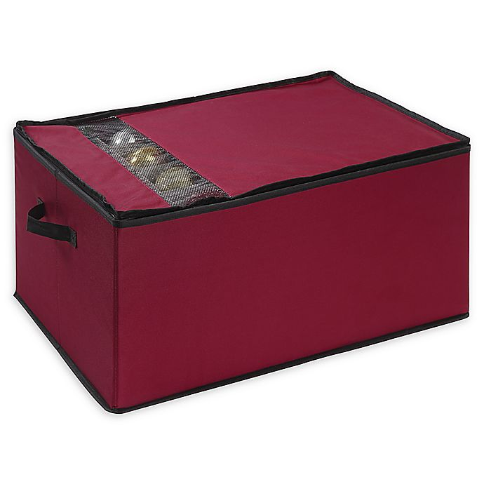 Alternate image 1 for Neu Home Holiday 72-Count Ornament Storage Box in Red