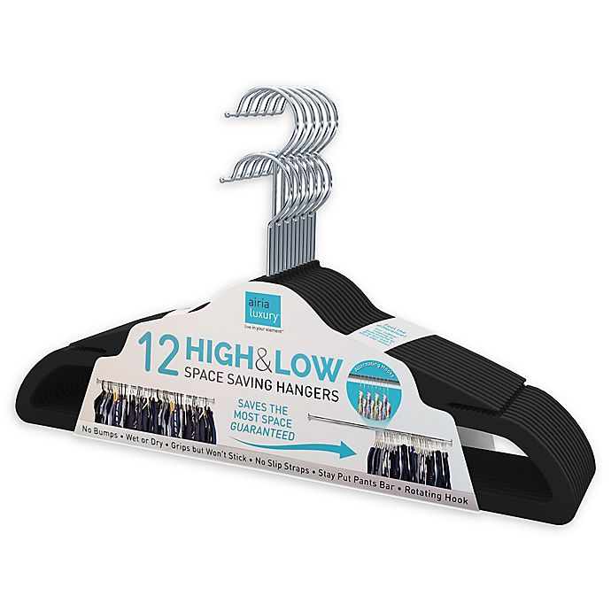 Alternate image 1 for High&Low Space Saving Hangers (Set of 12)