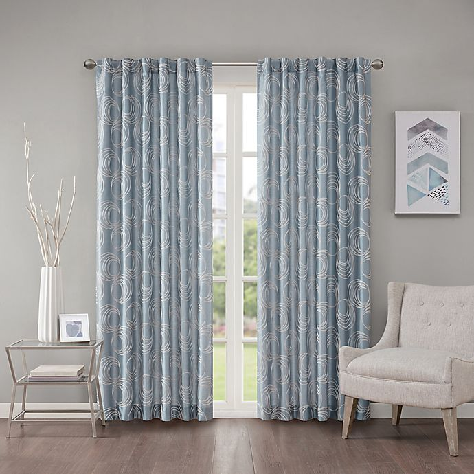 Alternate image 1 for Regency Heights Cosma 63-Inch Rod Pocket/Back Tab Window Curtain Panel in Blue