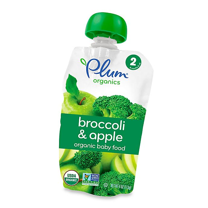Alternate image 1 for Plum Organics™ Second Blends™ Broccoli and Apple Baby Food Pouch