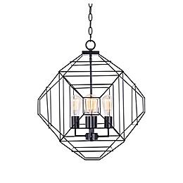 Kenroy Home Caix 4-Light Chandelier in Matte Black