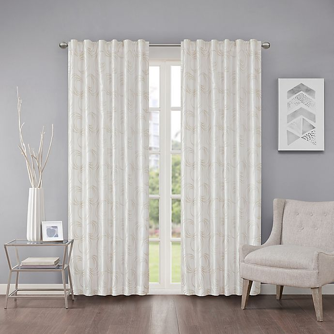 Alternate image 1 for Regency Heights Cosma 63-Inch Rod Pocket/Back Tab Window Curtain Panel in White