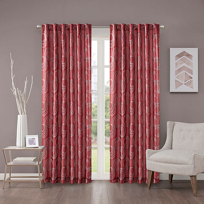 Alternate image 1 for Regency Heights Cosma 63-Inch Rod Pocket/Back Tab Window Curtain Panel in Red