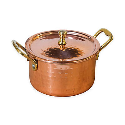 Denmark Tools For Cooks® 18 oz. Hammered Copper Clad Mini Covered Casserole