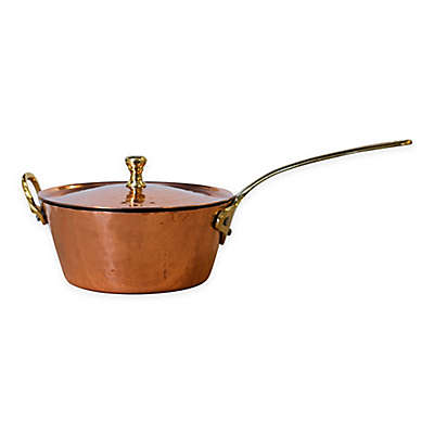 Denmark Tools For Cooks® 16 oz. Hammered Copper Clad Mini Covered Saute Pan