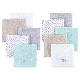 Hudson Baby® 8-Pack Elephant Woven Terry Washcloths in Grey
