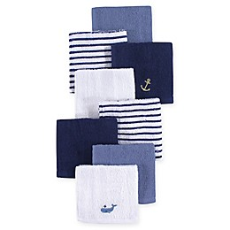 Hudson Baby® 8-Pack Anchor Woven Terry Washcloths in Blue