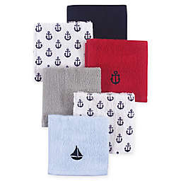 Hudson Baby® 8-Pack Sailboat Woven Terry Washcloths in Blue