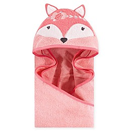 Hudson Baby® Boho Fox Hooded Towel in Pink