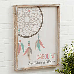 Boho Dreamcatcher Barnwood Frame Wall Art