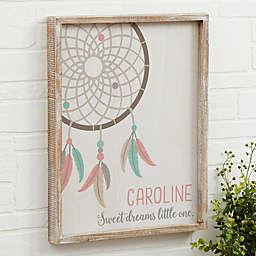 Boho Dreamcatcher Barnwood Frame Wall Art