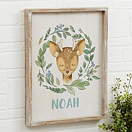 Woodland Deer Barnwood Frame Wall Art