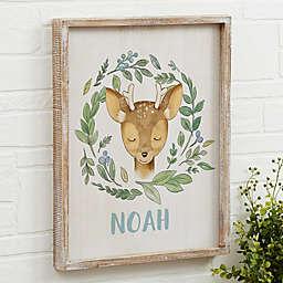Woodland Deer Barnwood Frame Wall Art