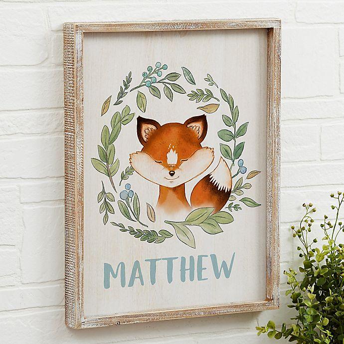 Alternate image 1 for Woodland Fox Barnwood Frame Wall Art