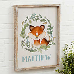 Woodland Fox Barnwood Frame Wall Art