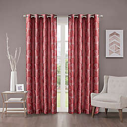 Cosma 108-Inch Grommet Room Darkening Window Curtain Panel in Red
