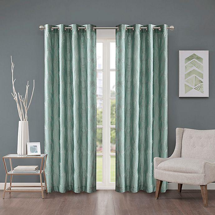 Alternate image 1 for Cosma 108-Inch Grommet Room Darkening Window Curtain Panel in Aqua