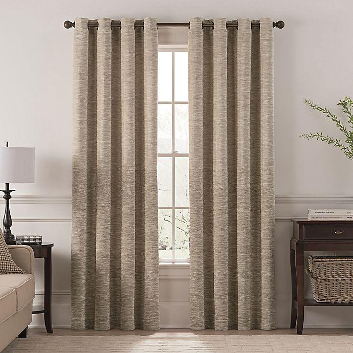 Alternate image 1 for Chantal 84-Inch Grommet Room Darkening Window Curtain Panel in Wheat