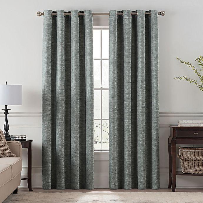 Alternate image 1 for Chantal 108-Inch Grommet Room Darkening Window Curtain Panel in Grey