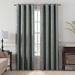 Chantal 84-Inch Grommet Room Darkening Window Curtain Panel in Grey