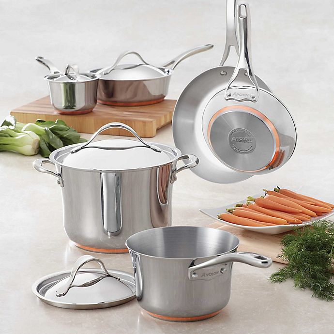 Alternate image 1 for Anolon® Nouvelle Copper Stainless Steel Cookware Collection
