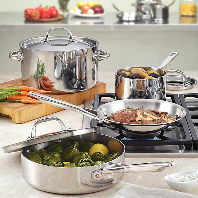 Alternate image 1 for Anolon® Tri-Ply Clad Stainless Steel Cookware Collection