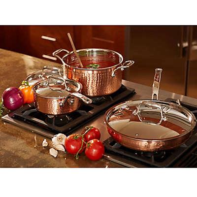 Lagostina Martellata Tri-Ply Copper Cookware Collection