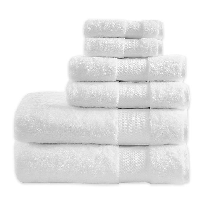 Alternate image 1 for Madison Park 6-Piece Signature Turkish Cotton Bath Towel Set in White